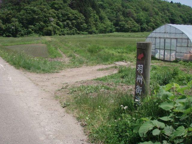 右手に伸びる旧道2