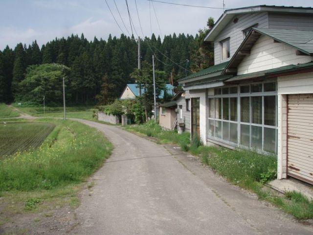 道は山の中2